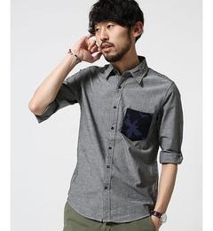 【ナノ・ユニバース/nano・universe】 カモPKダンガリーシャツ 7S [3000円(税込)以上で送料無料]