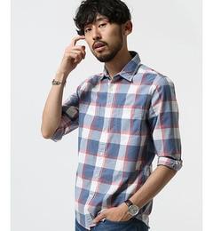 【ナノ・ユニバース/nano・universe】オリジナルマドラスシャツ7/S[3000円(税込)以上で送料無料]