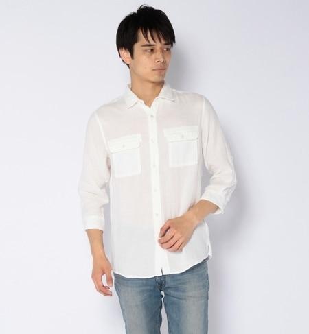 【ナノ・ユニバース/nano・universe】 ダブルガーゼミリタリーシャツ 7/S [送料無料]