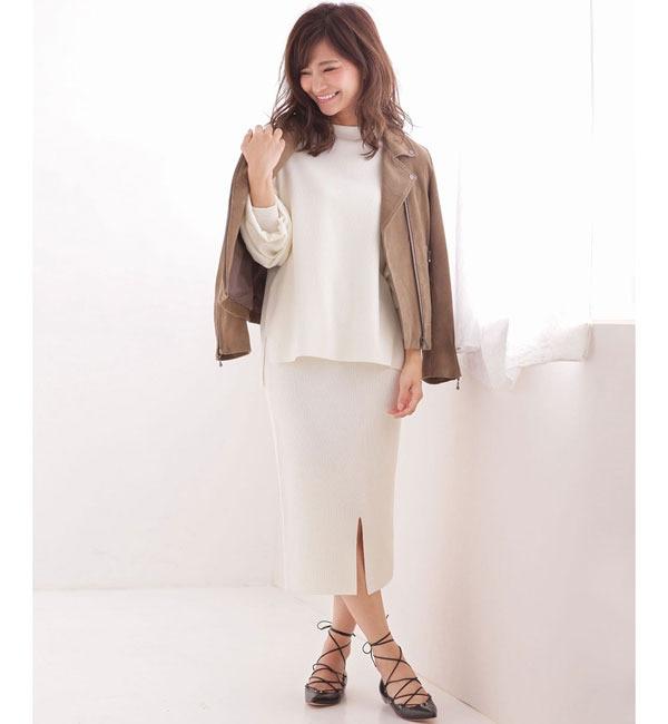 【ナノ・ユニバース/nano・universe】 【美人百花 10月号掲載】 Couture-line(クチュールライン) ニットスカートセットアップ [送料無料]