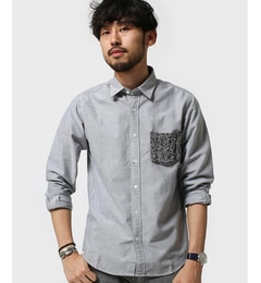 【ナノ・ユニバース/nano・universe】KnitPKシャツLS[3000円(税込)以上で送料無料]