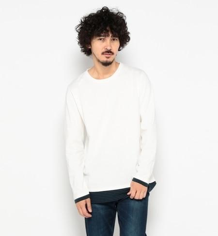 【ナノ・ユニバース/nano・universe】 フェイクレイヤードボーダーTシャツ LS [送料無料]