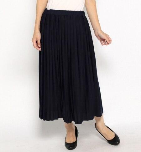 【ナノ・ユニバース/nano・universe】 ミニ裏毛プリーツスカート [送料無料]
