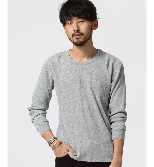 【ナノ・ユニバース/nano・universe】 ワッフルTシャツ L/S [送料無料]