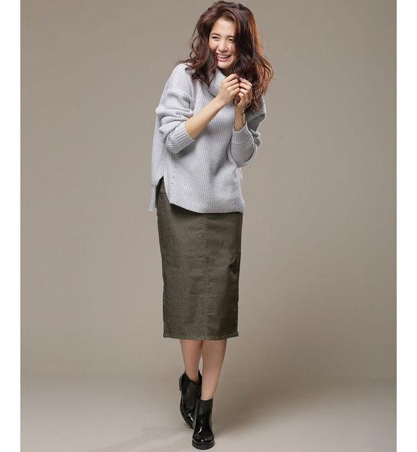 【ナノ・ユニバース/nano・universe】 Reストレッチカラータイトスカート [送料無料]