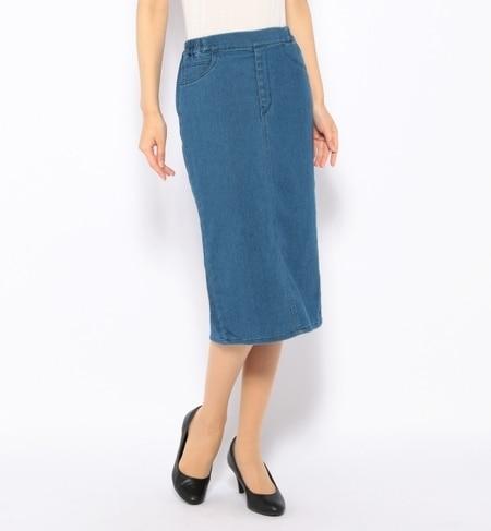 【ナノ・ユニバース/nano・universe】 EASYデニムタイトスカート [送料無料]