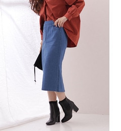 【ナノ・ユニバース/nano・universe】 EASYデニムタイトスカート [3000円(税込)以上で送料無料]