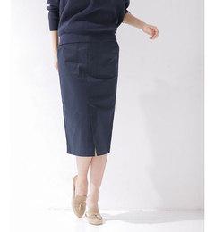 【ナノ・ユニバース/nano・universe】フロントスリットIラインスカート[送料無料]