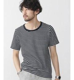 【ナノ・ユニバース/nano・universe】 ボーダーミニワッフルTシャツ SS [3000円(税込)以上で送料無料]