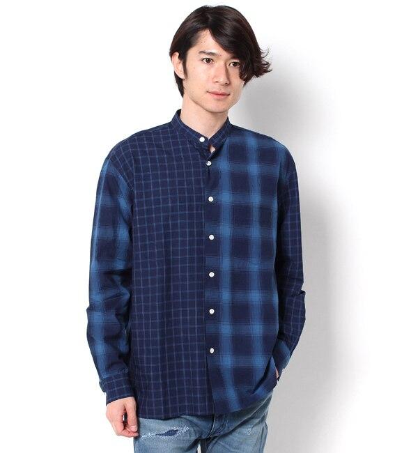 【ナノ・ユニバース/nano・universe】 //クレイジーバンドカラーシャツ [送料無料]