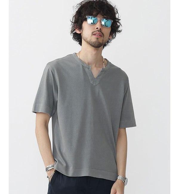 【ナノ・ユニバース/nano・universe】 //ピグメントキーネックTシャツ [送料無料]