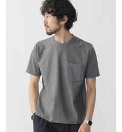 【ナノ・ユニバース/nano・universe】//ストライプ切替Tシャツ[送料無料]