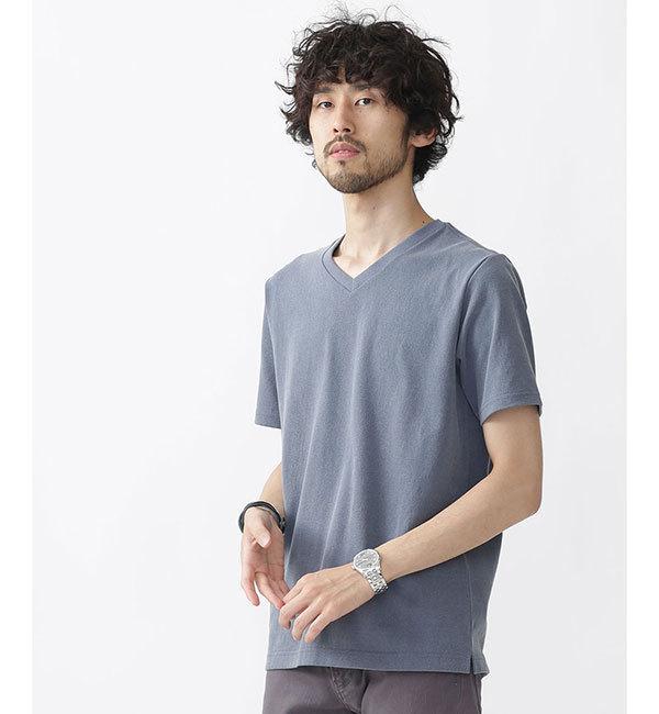 【ナノ・ユニバース/nano・universe】 //ピグメント加工VネックTシャツ [3000円(税込)以上で送料無料]