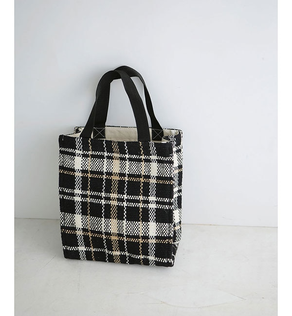 【ナノ・ユニバース/nano・universe】 Lilas Campbell/LP check pattern box totebag