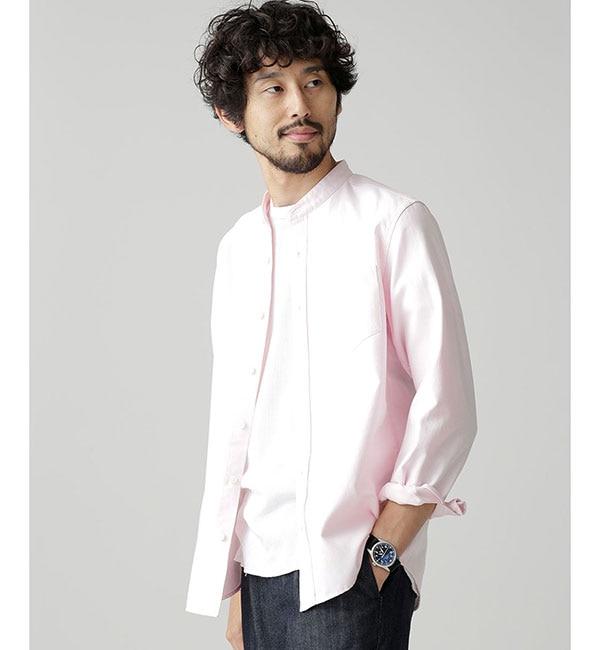 【ナノ・ユニバース/nano・universe】 【WEB限定】 オックスバンドカラーシャツ