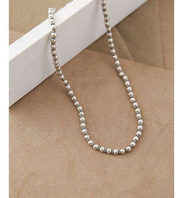 【ナノ・ユニバース/nano・universe】 on the sunny side of the street/別注Sml Metal Pearl Beads Choker