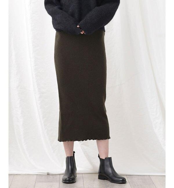【ナノ・ユニバース/nano・universe】 ウールカシミアリブスカート's image