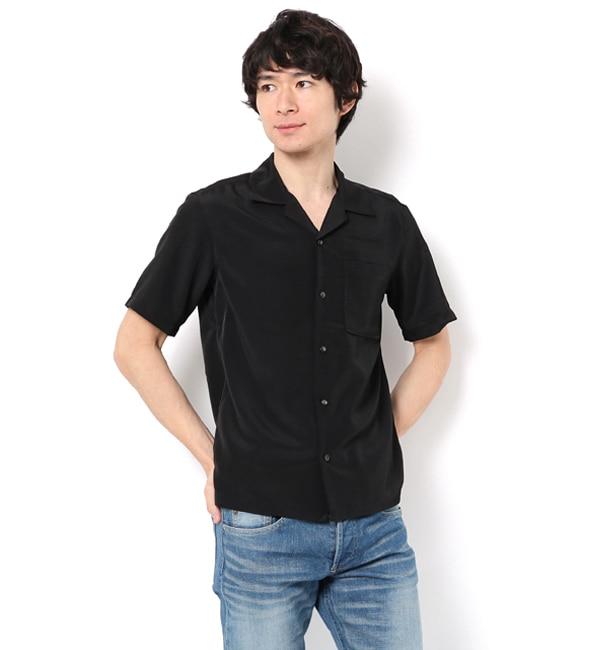 【ナノ・ユニバース/nano・universe】 【WEB限定】ドライスムースオープンカラーシャツ