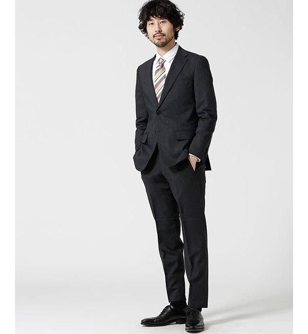 【ナノ・ユニバース/nano・universe】 【WEB限定】スーツ+ソリッド+スタンダード+グレー