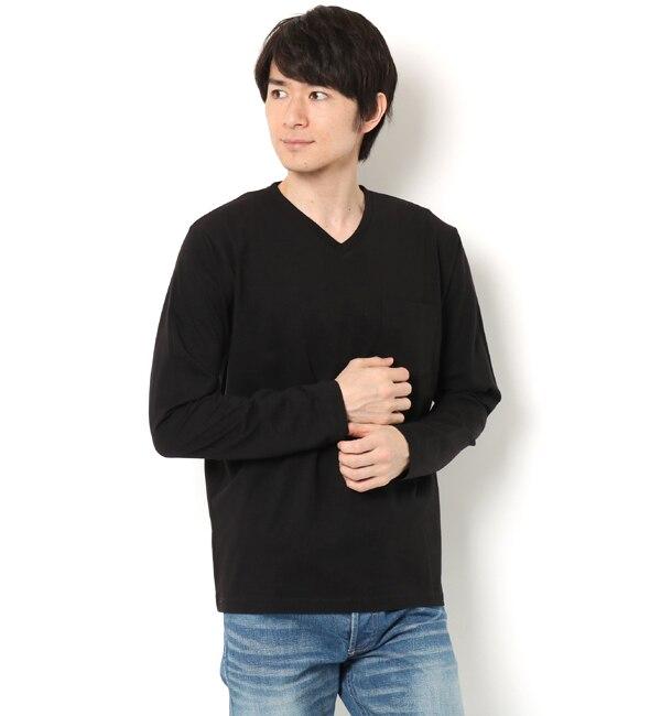 【ナノ・ユニバース/nano・universe】 R/CプレーティングVネックTシャツ