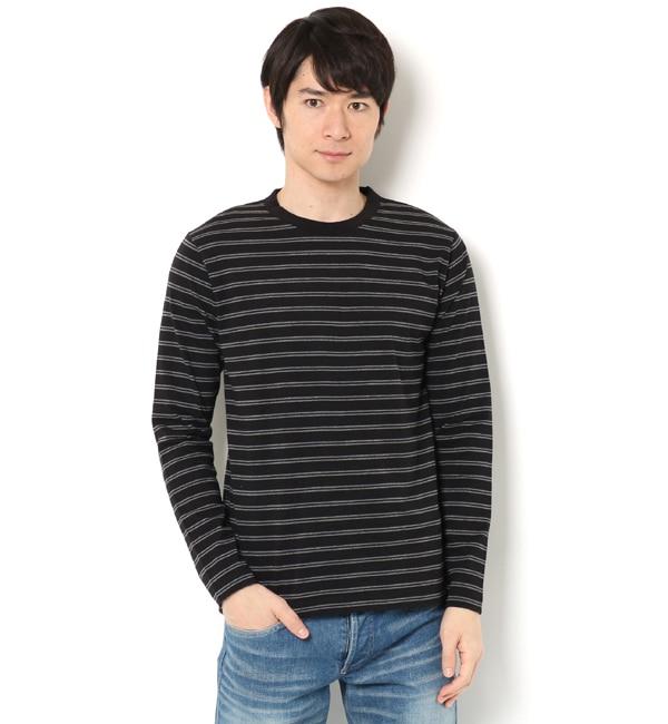 【ナノ・ユニバース/nano・universe】 R/CプレーティングボーダーTシャツ