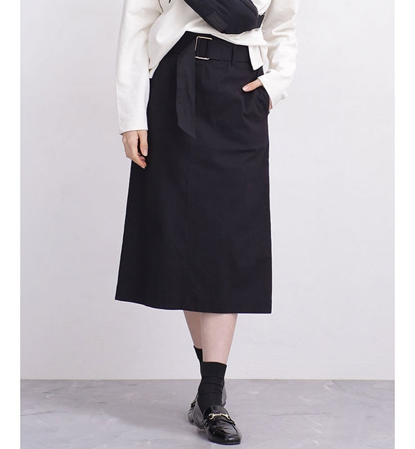 【ナノ・ユニバース/nano・universe】 【WEB限定】バックスリットタイトスカート