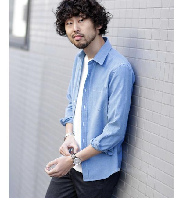 【ナノ・ユニバース/nano・universe】 《WEB限定》オックスレギュラーカラーシャツ