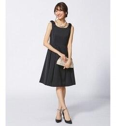 【クミキョク/組曲】 【結婚式やパーティに】シルキーサテンボンディング ドレス [送料無料]