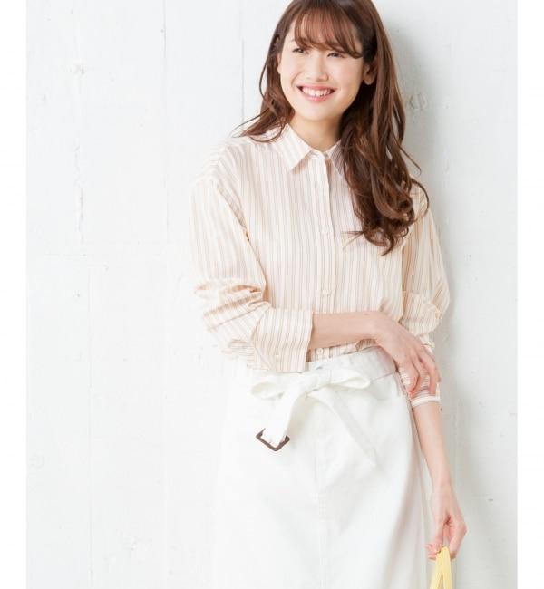 【クミキョク/組曲】 【CLASSY.3月号掲載】100/1コンパクトツイル シャツ