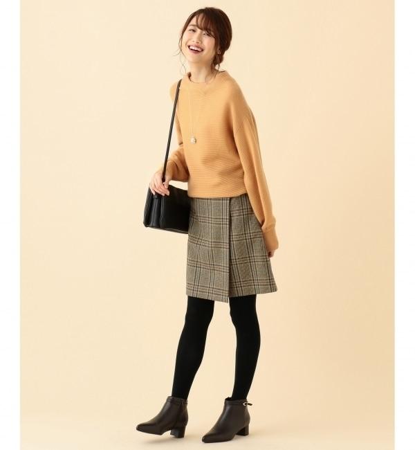 【クミキョク/組曲】 LAMBSWOOL MOONチェック スカート