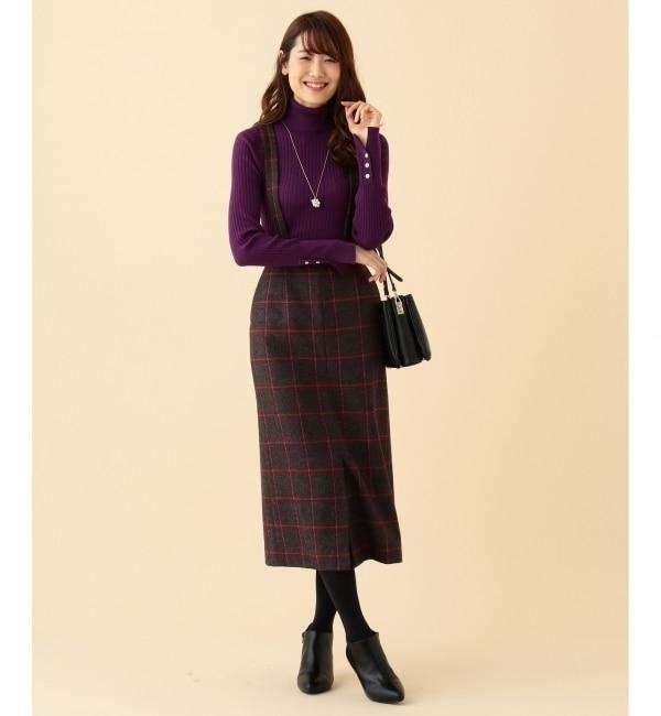 【クミキョク/組曲】 LAMBSWOOL MOONタイト スカート