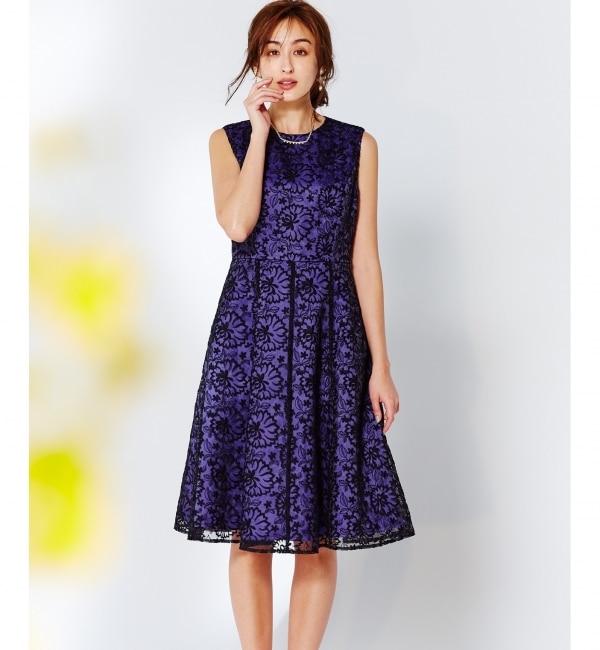 【クミキョク/組曲】 【2019春の一部店舗限定】パネル切替フィット&フレア ドレス