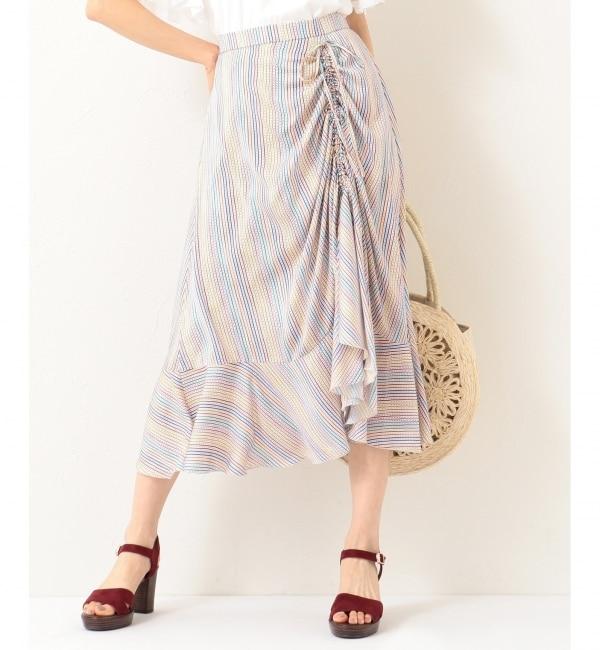 【クミキョク/組曲】 【洗える】Almaプリント スカート