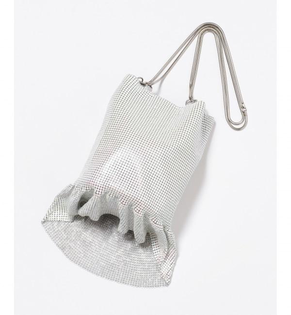【クミキョク/組曲】 【WEB限定】メタルメッシュフリル巾着 バッグ