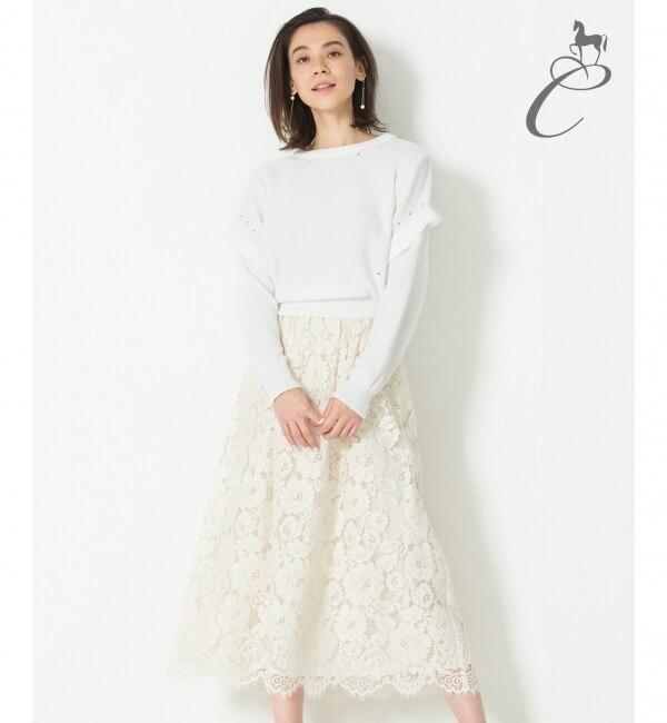 【ジユウク/自由区】 【Class Lounge】CAMELLIA LACE スカート