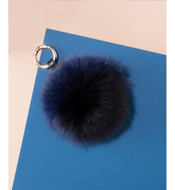 【ニジュウサンク/23区】 【WEB限定】3tone Fox Fur Pompom チャーム