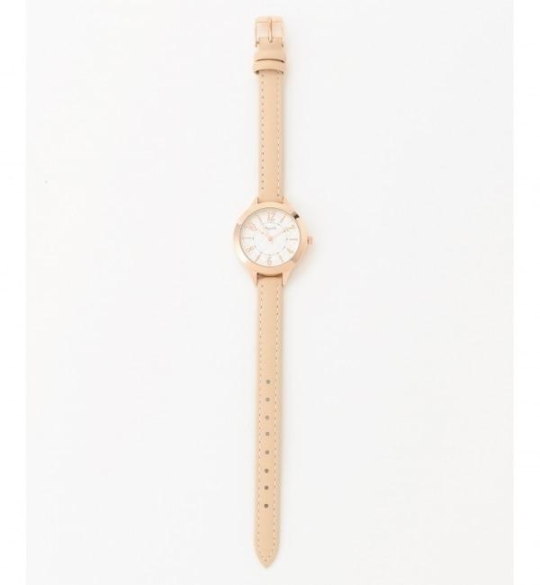 サークルフェイス ウォッチ(腕時計)【エニィスィス/any SiS レディス 腕時計 ピンク系 ルミネ LUMINE】
