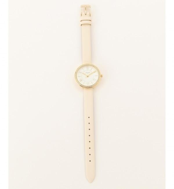 サークルデザイン ウォッチ(腕時計)【エニィスィス/any SiS レディス 腕時計 ホワイト系 ルミネ LUMINE】