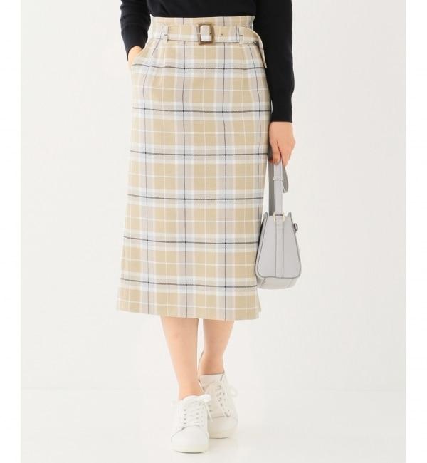 【エニィスィス/any SiS】 スプリングチェックナロー スカート