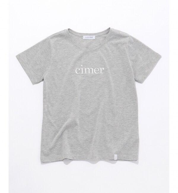 【エニィスィス/any SiS】 L'aube クルーネックロゴ Tシャツ
