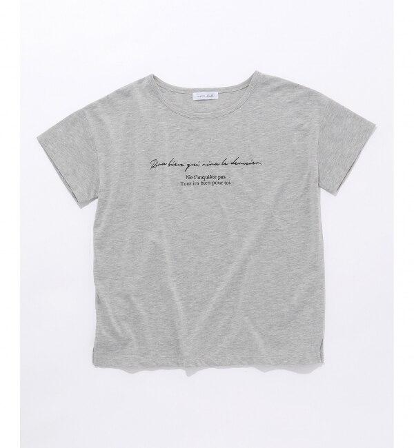 【エニィスィス/any SiS】 L'aube ボートネック ロゴTシャツ