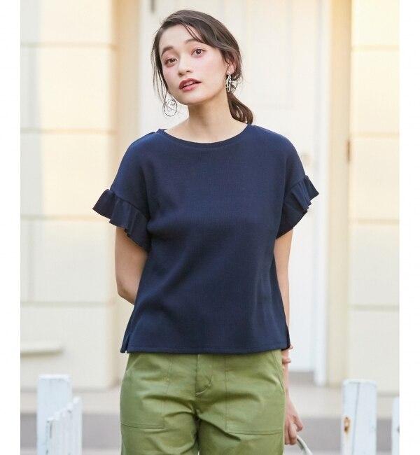 【エニィスィス/any SiS】 L'aube T/Cワッフル Tシャツ