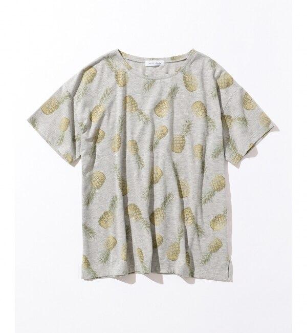 【エニィスィス/any SiS】 【L'aube】パイナップルプリント Tシャツ