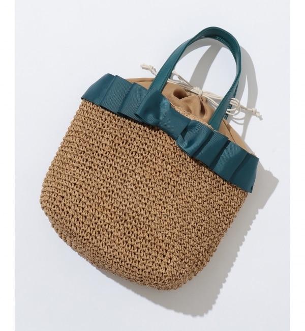 【エニィスィス/any SiS】 リボンフリル かごバッグ