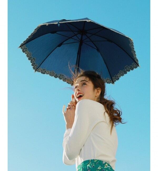 【エニィスィス/any SiS】 【晴雨兼用】Deveauxブルーム パラソル(長傘・折りたたみ傘)