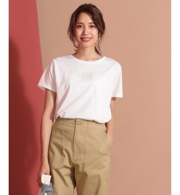 【エニィスィス/any SiS】 【UVケア&接触冷感】ロゴプリント Tシャツ