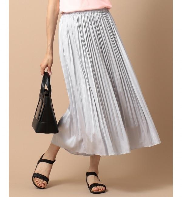 【エニィスィス/any SiS】 【泉里香さん着用】ビンテージサテンプリーツ スカート