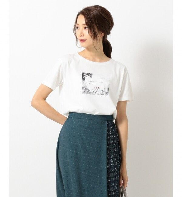 【エニィスィス/any SiS】 【UVケア&接触冷感】フォトプリント Tシャツ