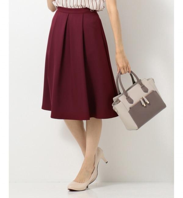 【エニィスィス/any SiS】 【洗える】サイドバックルポイント スカート