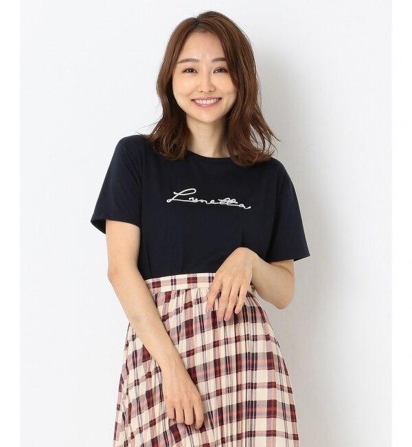 【エニィスィス/any SiS】 エンブロイダリーロゴ Tシャツ